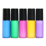 15Pcs 5mL Mixed Color Roller Ball Glass Bottle Small Container for Perfume Essential Oil