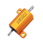 10pcs RX24 10W 10R 10RJ Metal Aluminum Case High Power Resistor Golden Metal Shell Case Heatsink Resistance Resistor
