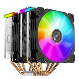 Jonsbo CR2000 6 Heatpipes Double tower CPU Cooler 120mm 5V/3PIN ARGB Cooling Fan 4PIN PWM Silence For LGA 775 1155 1156 AM4 AM3