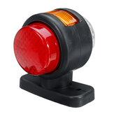 12В-24В 11 LED индикатор двойного бокового габаритного света Лампа резиновый контур для прицепа грузовика караван фургон