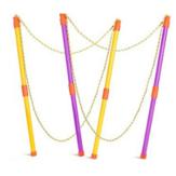 Big Bubble Making Rekwizyty Dwubiegunowe Składane Bubble Rope Zabawki dla dzieci
