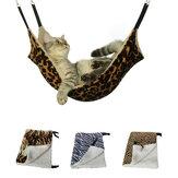 Zebra mintás meleg függő macskaágy szőnyeg Soft Cat Winter függőágy macska kisállat ketrec ágynemű párna