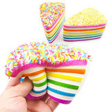 14x9x8cm Squishy Rainbow Cake Simulatie Super Slow Rising Fun Gift Toy Decoration