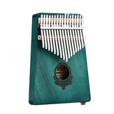 17 nøgler Mahogni Wood Kalimba African Thumb Piano Mini Keyboard Percussion Instrument