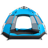 3-4/5-8 Person Camping Tent Double Layer Waterproof UV Protection Sunshade Canopy Outdoor Travel