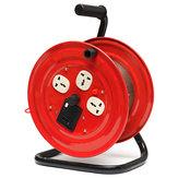 220 V Multi-Tomada 3 Plug Carretel de Enrolamento de Cabo de Extensão Elétrico Vermelho Pesado Carretel Wind-Up