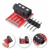 10個3.5mmプラグジャックステレオTRRSヘッドセットオーディオソケットブレイクアウトボード拡張モジュール