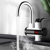 3000 W Anında Elektrikli Isıtma Musluk Soğuk ve Sıcak Mikser Sıcaklık Dijital Ekran Banyo Mutfak Tek Kolu Su Dokunun