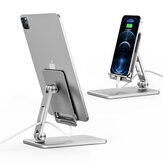 SSKY X21 Universal Folding Phone/ Tablet Holder Multi-Angle Adjustable Desktop Stand Bracket for iPad Pro POCO X3 PRO Devices below 12.9 inch
