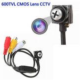 Mini oculto HD 600TVL CMOS lente CCTV branco parafuso oculto câmera de segurança doméstica