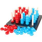 Brinquedos de madeira criança jogos gobang crianças coordenação olho-mão brinquedos educativos presente