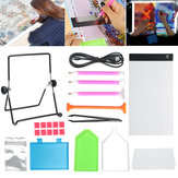 34Pcs LED Light Pad Board Stand Holder 5D Diamond Embroidery Paintings Tools Kit