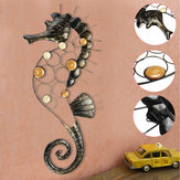 Hippocampus Iron Metal Craft Garden Hanging Wall Art Ornament Home Decorations