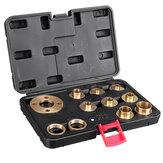 11Pcs Pure Copper Premium Router Guide Bush Set 10-30mm Router Bushing Guide Woodworking Tool