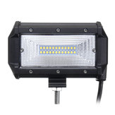 5 Inch 72W LED Work Light Bars Flood Beam IP67 10-30V White dla Jeep Off Road SUV Truck