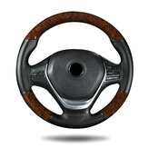 38cm Microfiber Leather Car Steering Wheel Case Cover Braiding With Needles Thread