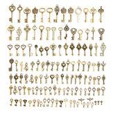 128 Adet Için Vintage Bronz Anahtar Kolye Kolye Bilezik DIY El Yapımı Aksesuarlar Süslemeleri