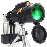 12X50 Telefoontelescoop Draagbaar Buitenshuis Telescoop Telefoonlens Licht Telefoontelescoop met statieven Telefoonclip