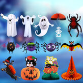 Christmas 2017 Bar Decoration Props Parachute Head Ghost Witch Spider Jewelry