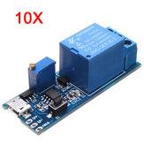 10 stuks 5V-30V breedspanningspreker vertraging timer relais geleiding relais module tijd vertragingsschakelaar