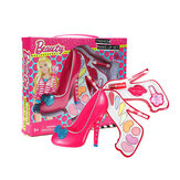 Kids Girl Makeup Toy Set Non Toxic Cosmetic High Heel Shape Play Kits Children Gift for Over 7 Years Old