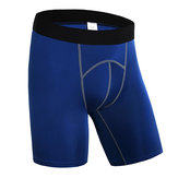 Pro Mens Sports Running Fitness Quick Drying Breathable Tight Shorts Fitness Pants