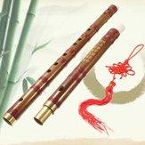 El Yapımı Geleneksel Çin Müzik Enstrümanı D Anahtar Bambu Flüt 61mm