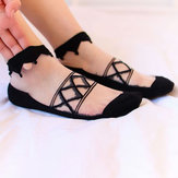Women Summer Ultra-Thin Mesh Breathable Lace Low Cut Sock