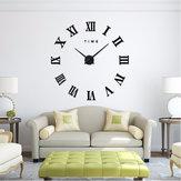 Design moderne DIY Grand Décoratif 3D Horloge Murale Reloj Pared Adhesivo Chiffres Romains Miroir Grandes Horloges Autocollants Montres