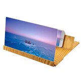 Universal Wooden 12 inch Screen Magnifier Image Enlarge Desktop Bracket Holder for Mobile Phone