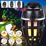 Altoparlante bluetooth da esterno LED Flame Light Table lampada Torcia Atmosfera Bright Night Light DC5V