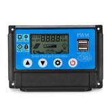 Excellway® 10/20/30/40/50A 12V 24V Auto Solar Panel Solar Charge Controller Batteriopladningsadapter LCD USB