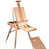 Caballete de madera plegable portátil duradero dibujo francés Caja artistas pintores trípode suministros de pintura caballetes