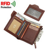 Men Anti-Theft RFID Blocking Secure Wallet 6 بطاقة Slots واقية قصيرة المحفظة