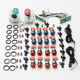 DIY Arcade Kits USB Control to PC Joystick LED Push Buttons Zero Delay Keyboard Encoder Micro Switch for Arcade Game