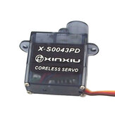 Xinxiu X-S0043PD 0.6Kg.cm~0.8Kg.cm Torque 4.8V-6V Coreless Motor Plastic Gear Digital Micro Servo 4.3g for RC Airplane