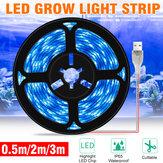 0,5 M / 2 M / 3M LED Grow Light USB-Vollspektrum LED Growth Light Strip LED Pflanzenlampe DC5V Phyto Seed Flower Gewächshauslampenband Nein Wasserdicht IP65 Wasserdicht