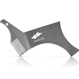 Stainless Steel Beard Shaping and Styling Template Beard Comb Tool Stencil for Men's Beard Shaving