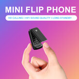 Ulcool F1 Small Flip Phone 600mAh bluetooth Dialer FM Portable Pocket Mini Card Phone