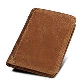 RFID Blocking Wallet ægte læder Large Capacity Secure Tri-fold Wallet for Men