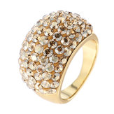 JASSY® Gold Ring Full Crystal Shadow Micro Inlay Statement