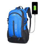 40L Climbing Nylon Backpack Waterproof USB Sports Travel Hiking Climbing Unisex Rucksack