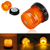 12-24V 30LED Magnetic Amber Warning Fishing Night Light  Beacon Strobe Light Emergency Alarm Tractor Lamp