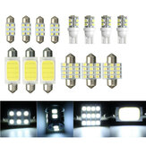 14Pcs 12V White Car Interior COB LED Dome Kit pacchetto luci T10 Lampadine a festone 31mm 42mm