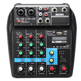 4 Saluran USB Portable Mixer Rekaman Bluetooth Live Studio DJ Audio Mixing Console