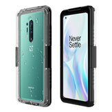 Bakeey for OnePlus 9 Pro/ 8T/  8/ 7/ 8 Pro/ 7T/ 7 Pro IP68 Waterproof Case Transparent Touch Screen PC + TPU Shockproof Dustproof Full Cover Protective Case