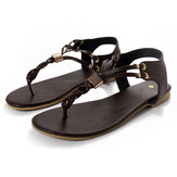 US Größe 5-12 Damen Casual Soft Metal Beach Sandalen