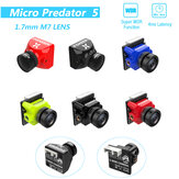 Foxeer Micro Predator 5 Racing FPV Camera 19 * 19 mm 1000TVL 1,7 mm M8 Obiektyw 4 ms Latencja Super WDR