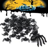 50pcs Halloween Kunststoff Spinnen Spinne Lustige Joking Toy Dekoration