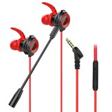 Bakeey G11 Wired Earphone 10MM Dynamic Noise Reduction HD Calling Earbuds 3.5MM In-Ear E-sports Gaming Headset with Detachable Mic